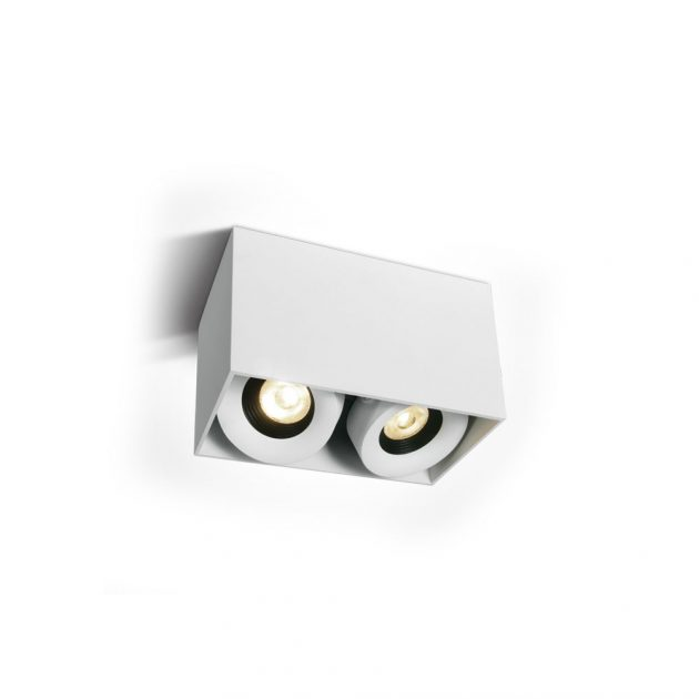 LED Луна за открит монтаж WHITE 2X8W Adjustable COB Cylinders DIMMABLE - Onelight
